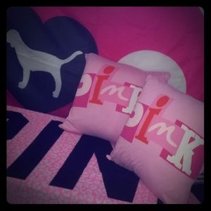 Vintage Pink Pillow Set Adorable!!